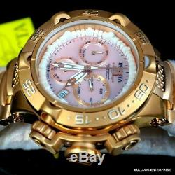 Lady Invicta Subaqua Noma V Swiss Made Rose Gold Plated Pink MOP 42mm Watch New