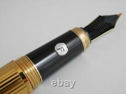 Louis Cartier Gold Plated Fountain Pen F with Box FREE SHIPPING WORLDWIDE