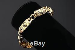 MEDUSA 18k gold luxury Vintage vertical strands 3D DIY chains letters bracelet
