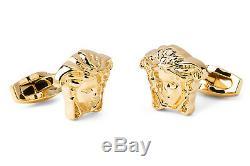 Medusa Versace cufflinks Gold plated jewelry Mens fashion Brass metal