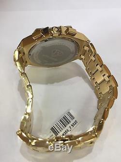 Men Aqua Master Jojo Jojino Joe Rodeo Yellow Metal Band 48mm Diamond Watch W#356