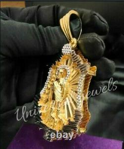 Men's Customization Pendant Jesus Face Solid metal 14k Two Tone Gold Plated