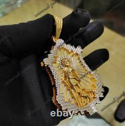 Men's Customization Pendant Jesus Face Solid metal 14k yellow Gold Plated