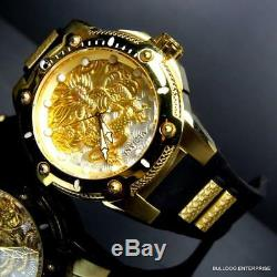 Men's Invicta Bolt Dragon Automatic Gold Plated White 52mm Silicone Watch New