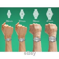 Men's Rolex 36mm 18K & SS Datejust Diamond Silver Jubilee Metal Plate Watch