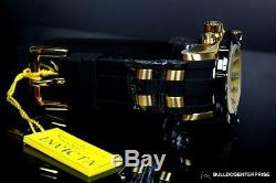 Mens Invicta Pro Diver III 50mm Chronograph 18kt Gold Plated Black Watch New