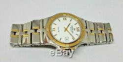 Mens Raymond Weil Parsifal Bi Metal Stainless Steel Gold Plated Date Watch 9590