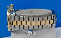 Mens Tag Heuer 2000 18K Gold plated & SS Chronograph watch White Dial CK1121