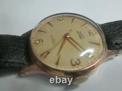 Mens Vintage smiths astra watch with the box 17 jewels 27cs 112 gold plate