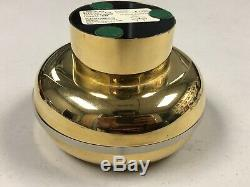 Mid Century Chrono Audocron Clock Space Age Mod Wayne Husted Gold Plated Modern