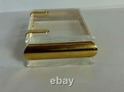 Mid Century Perspex Lucite & Gold Plated Metal Hollywood Regency Trinket / Box