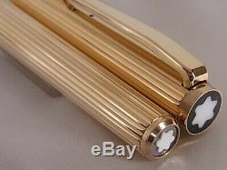 Montblanc Noblesse Fountain Pen Gold Plated 14K EF Nib