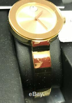 Movado 3600202 Women's Swiss Bold Rose Gold Ion-Plated Bangle Watch NEW