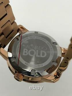 Movado Bold Rose Gold Dial Rose Gold Tone Ion Plated Women's Watch 3600188 SD