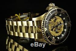 NEW Invicta 47mm Pro Diver DRAGON NH35A Automatic 18K Gold Plated SS Watch 26490