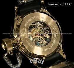 NEW Invicta Mens Mechanical Skeleton Russian Diver18K Rose Gold Plated SS Watch