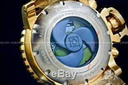 NEW Invicta SEA HUNTER Gen II 70MM SWISS MOVT 18K Gold Plated Chrono S. S Watch