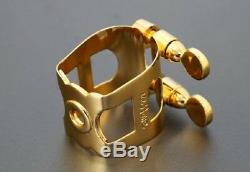NEW WoodStone Gold Plated Ligature for Saxophone Guardara Metal Mouthpiece F/S