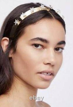 NWT $258 Free People Lelet NY Celest Star Prong Crown Headband Gold Plated