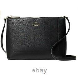 NWT Kate Spade Harlow Black Pebbled Leather Crossbody Bag NEW