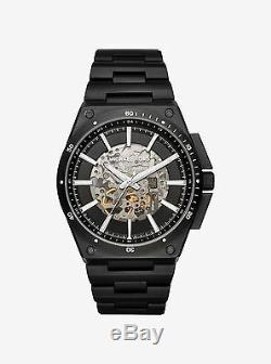 NWT Michael Kors Men's Automatic Wilder Black Ion-Plated Watch 44mm MK9023 $450