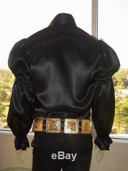 (New) ELVIS (18K GOLD Plated METAL BELT) Tribute Artist Costume (Jumpsuit Era)