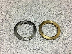 New GUCCI Gold Tone Silver Tone Metal Diamond Cut Bezel 1100/1200 Bangle Watch