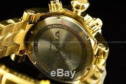 New Invicta Men 52mm Venom Swiss Chrono 18K Triple Gold Plated 1000M Diver Watch