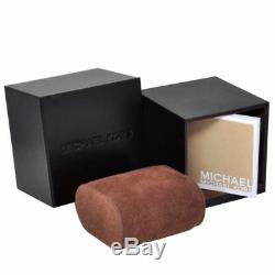 New Michael Kors MK3337 Darci Crystal Black Dial Black Iron Plated Women's Watch