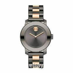 New Movado Bold 3600327 Two-Tone Black Ion-Plated Quartz Women's Watch
