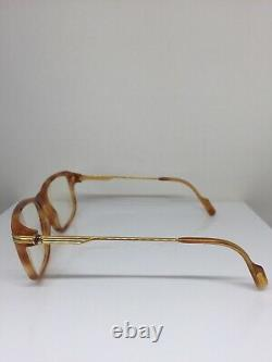 New Vintage Cartier Lumen Eyeglasses C. Blonde Marble with Gold Plated 54mm France