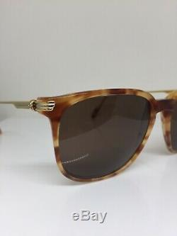 New Vintage Cartier Reflet Sunglasses C. Tiger Red with Gold Plated 56mm France