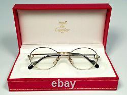 New Vintage Cartier St Honore 53mm Demo Cartier Lenses Sunglasses France 18k