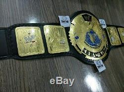 New WWF Attitude Era Big Gold Championship Belt 4mm Metal Plates Adult Size