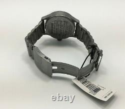 Nixon A356 131 Sentry SS Stainless Gunmetal IP Plated 100M Day/Date Men's Watch