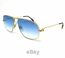 OCCHIALI CARTIER TANK T8100022 VINTAGE SUNGLASSES 18KT GOLD PLATED 1980's