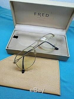 OCCHIALI FRED AMERICA CUP VINTAGE SUNGLASSES unisex France GOLD PLATED RARE