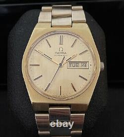 OMEGA 1972 GENEVE 166.0125 Gold Plated AUTOMATIC DAY & DATE 1012 35mm Watch