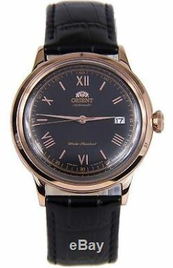 ORIENT 2nd Gen Bambino 2 Classic Automatic Rose Gold Plated Watch FAC00006B0
