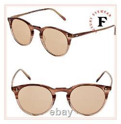 Oliver Peoples O'malley Rose Vsb Coral 18K Gold Plated Eyeglasses OV5183 45mm