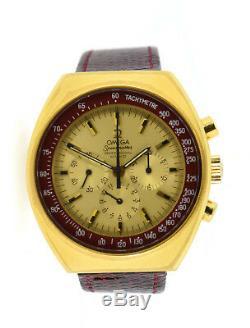 Omega Speedmaster Pro Mark II Chronograph Gold Plated Steel Watch 145.031
