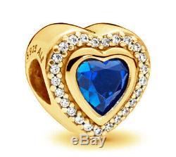 PANDORA Sparkling Love Charm 14K Gold Vermeil 797608NANB 14K Gold Plated