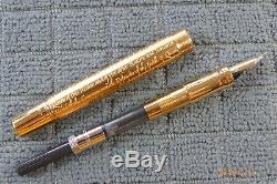 PARKER Duofold Accession LE 23k Gold plated with inscription Fountain Pen