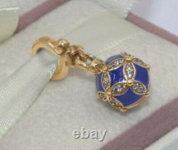 Pandora Blue Christmas Ornament Dangle Charm 14K Gold Vermeil Plated 798512C01