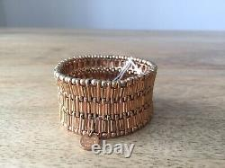 Philippe Audibert Antique Gold metal plated cuff Bracelet New