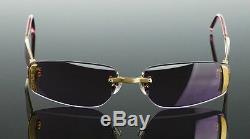 RARE $1200 Gold Plated FRED LUNETTES Designer Marine Percee Sunglasses P F4 606