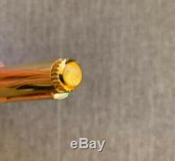 ROLEX Wave Ballpoint Gold Plated Watch Pen Original Box Swiss Fluted Bezel Top