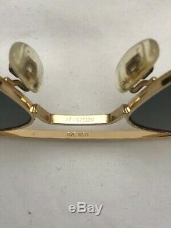 Randolph Engineering 23K Gold Plated Aviator 52 mm Sunglasses #117