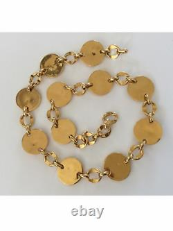 Rare Vintage Chanel Gold Plated Lucky Charm Belt