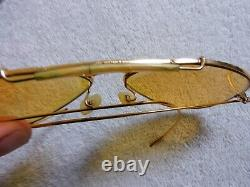Ray-Ban vintage gold Aviator 5814mm Sunglasses withCase yellow lenses
